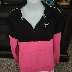 New w/o tags.Pink pull over. 1/4 zip